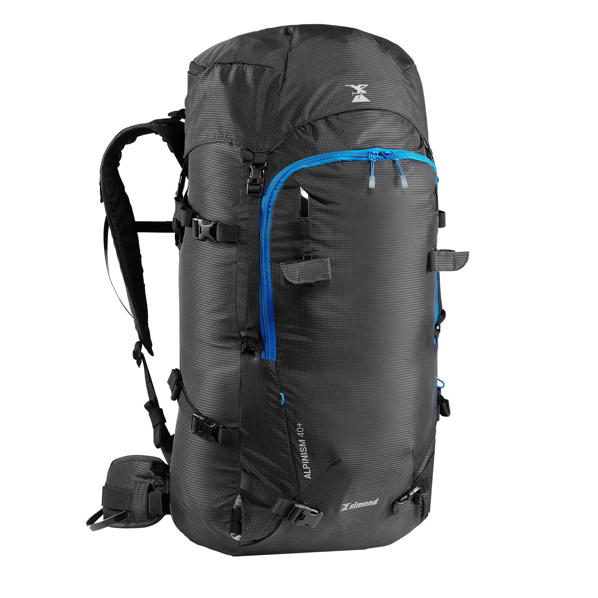 Mountaineering Backpack 40+ 10 Litres - ALPINISM 40+10 Black | Simond