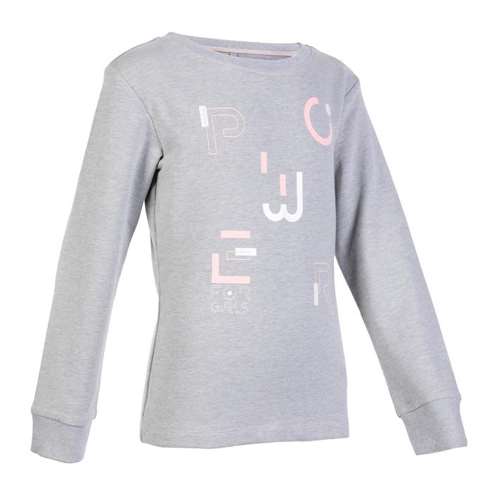 Girls' Warm Gym Sweatshirt 100 - Grey Print