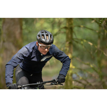 Mountainbikejas XC slim fit blauw