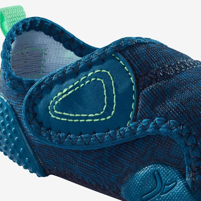 580 Baby Light Bootees - Blue Print