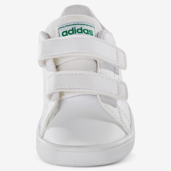 Asado erosión defensa  Zapatillas Adidas Bebé primeros pasos Advantage blanco verde talla 19 al 27  ADIDAS   Decathlon