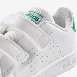 Zapatillas Gimnasia Bebé Adidas Advantage Clean Bebé Blanco