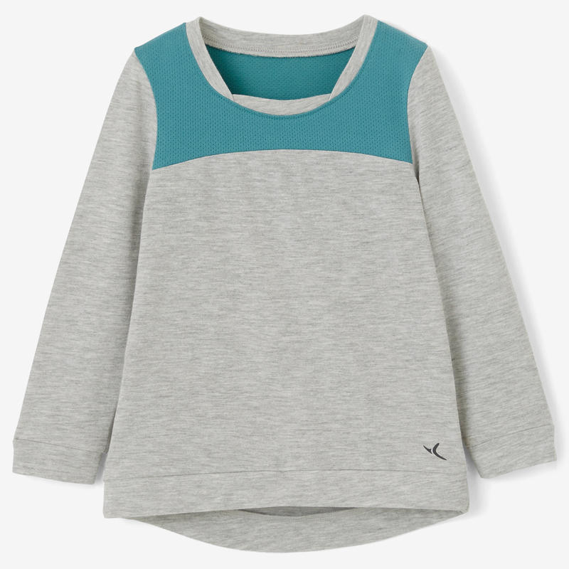 500 Baby Gym Long-Sleeved T-Shirt - Grey/Green