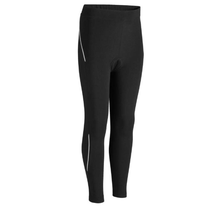 Kids' Cycling Tights 100 Black
