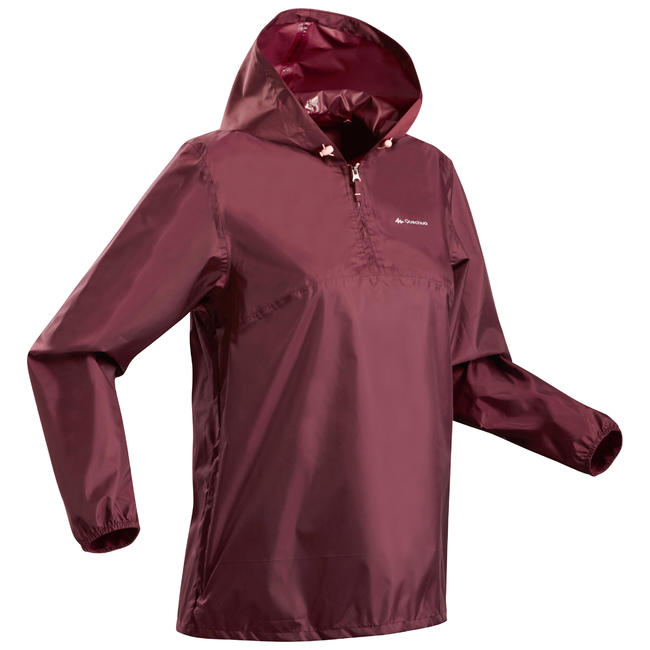 Women's half-zip hiking rain jacket - NH100