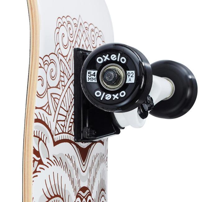 Kids' 8-12 Years Skateboard Mid 500 Bear