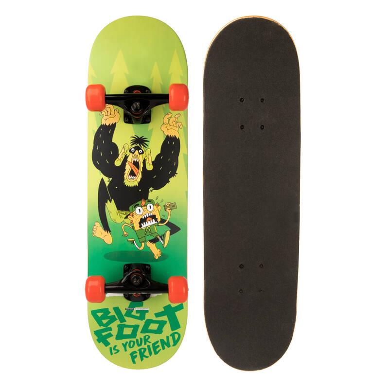 SKATEBOARD ZAČÁTKY Skateboardy, longboardy, waveboardy - SKATEBOARD MID100 BIG FOOT OXELO - Vybavení na skateboard