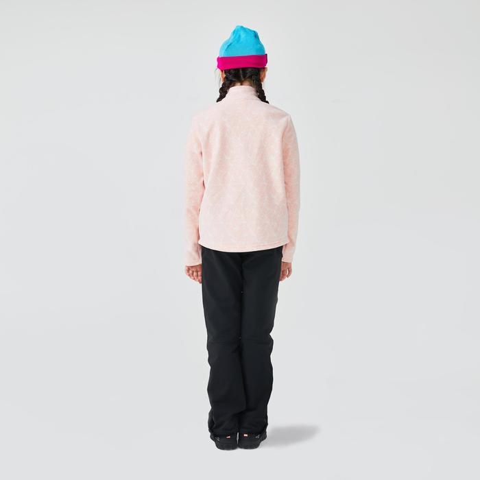 7到15歲兒童款健行刷毛外套MH100-粉紅色