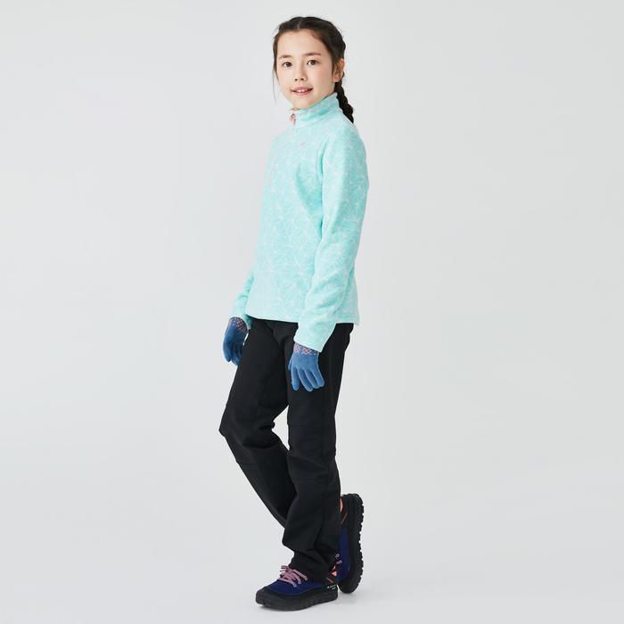 7到15歲兒童款健行刷毛外套MH100-綠色