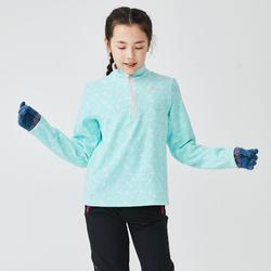 Children's Hiking fleece MH100 CN 7-15 yrs - green