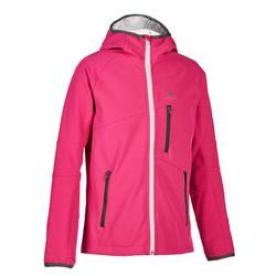 Children's hiking soft-shell jacket MH550 7-15 yrs