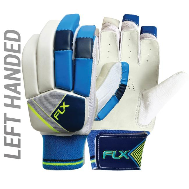 KID'S SAFETY TESTED IMPACT PROTECTION CRICKET BATTING GLOVES GL100, LH FLOU