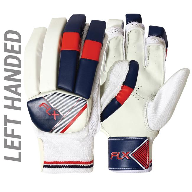 KID'S SAFETY TESTED IMPACT PROTECTION CRICKET BATTING GLOVES GL100, LH RED