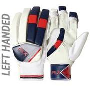MEN'S SAFETY TESTED IMPACT PROTECTION CRICKET BATTING GLOVES GL100, LH RED