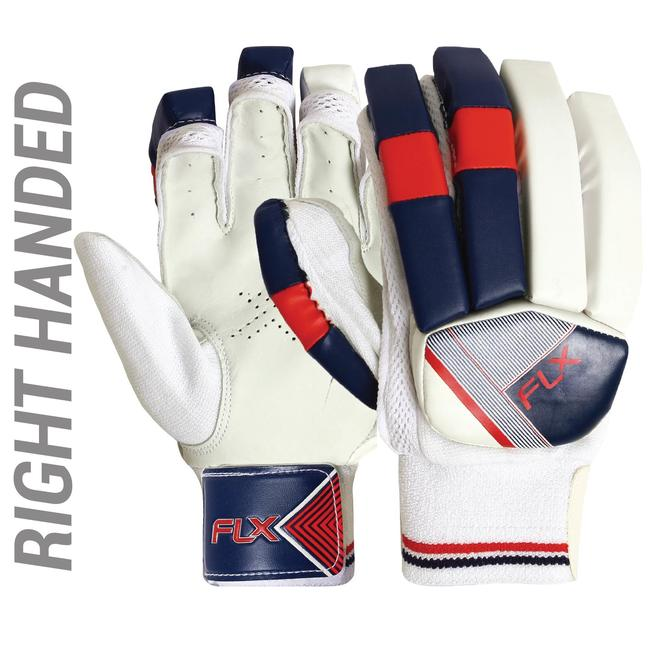 KID'S SAFETY TESTED IMPACT PROTECTION CRICKET BATTING GLOVES GL100, RH RED