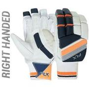 MEN'S SAFETY TESTED, IMPACT PROTECTION CRICKET BATTING GLOVES RH GL500, ORANGE
