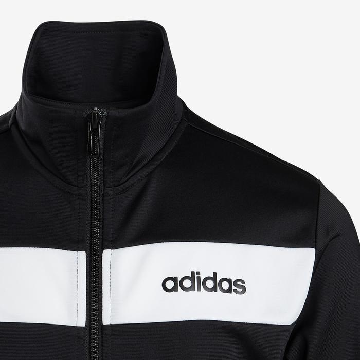 Survêtement garçon noir et blanc logo sur la poitrine adidas