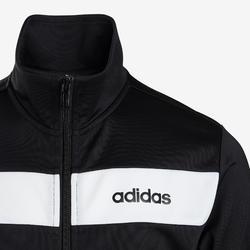 Trainingsanzug Logo auf der Brust Kinder schwarz/weiß
