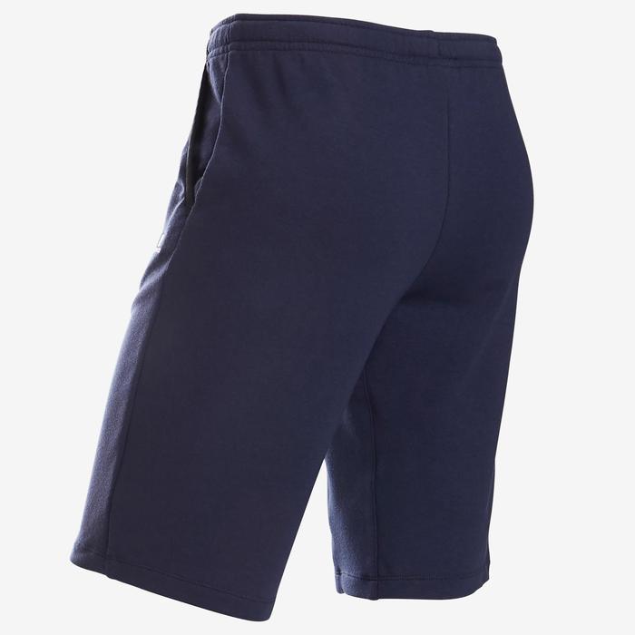 Short coton respirant 500 garçon GYM ENFANT bleu marine
