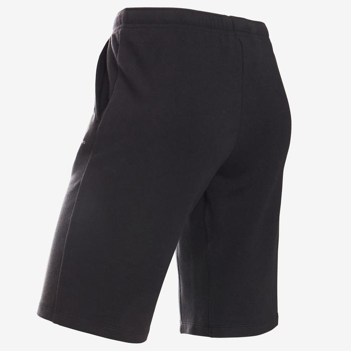 Sporthose kurz Baumwolle atmungsaktiv 500 Gym Kinder schwarz