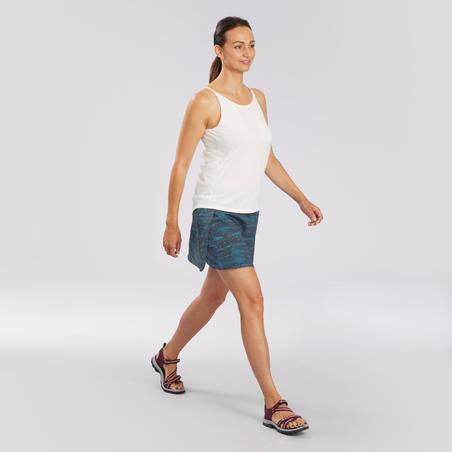 Playera de tirantes de senderismo en naturaleza - NH500 Fresh - Mujer
