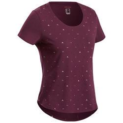 Women's Hiking T-shirt NH500 - Bordeaux
