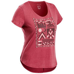 Women's Hiking T-shirt NH500 - Burgundy