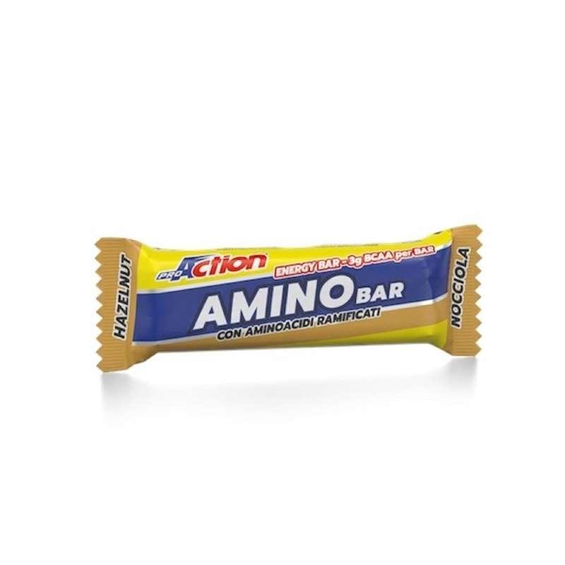 BARRETTE, GEL E RECUPERO Attività fisica intensa - Amino bar nocciola 40 grammi PROACTION - Boutique alimentazione 2019