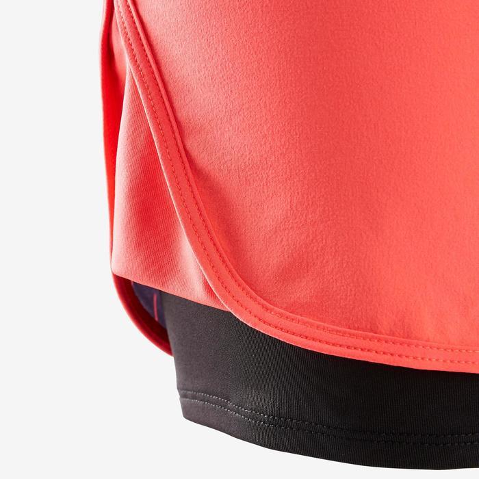 Sporthose kurz W900 Gym Kinder rot mit Print