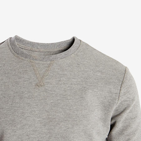Chandail gym 100 gris clair – Garçons