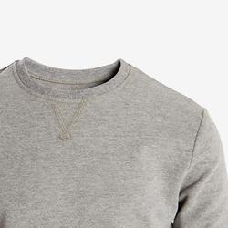 Sweat 100 garçon GYM ENFANT gris clair