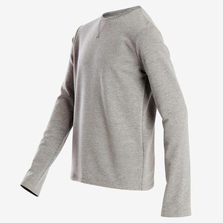 100 Gym Sweatshirt Light Grey - Boys