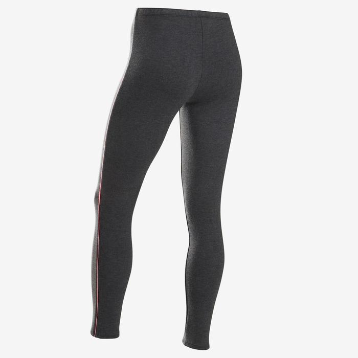 100 Warm Girls' Gym Leggings - Grey