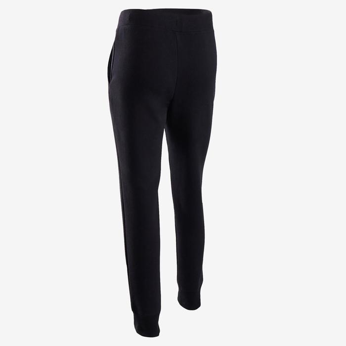 Pantalon de jogging chaud, molleton 100 fille GYM ENFANT noir