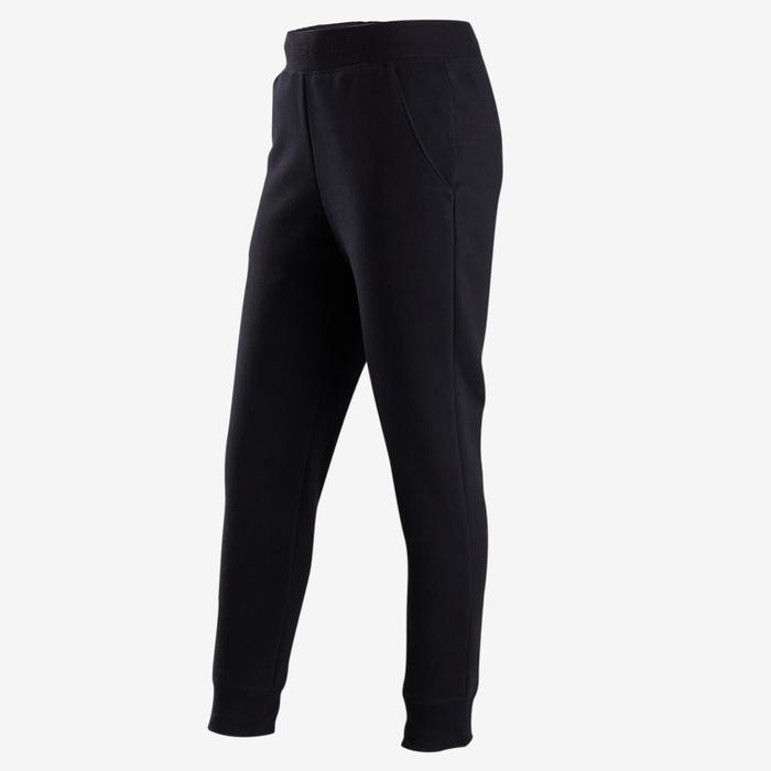 100 Girls' Warm Gym Bottoms - Black