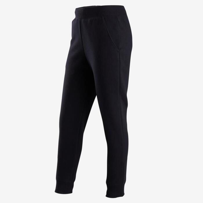 女童保暖健身長褲100 - 黑色