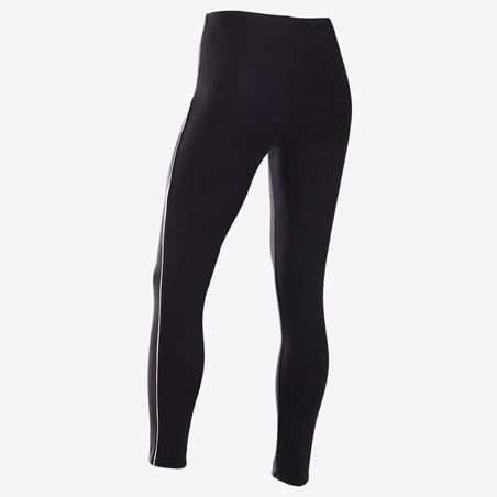 Girls' Warm Gym Leggings 100 - Black