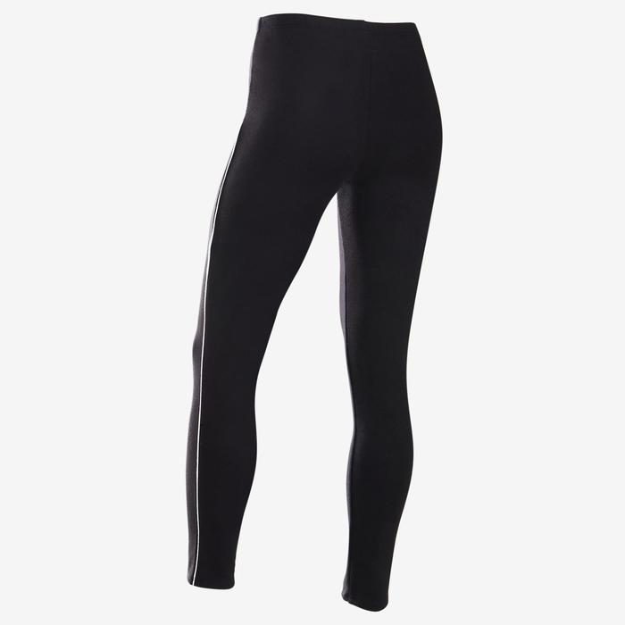Leggings warm 100 Gym Kinder schwarz