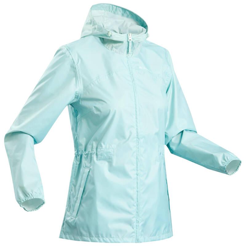 DÁMSKÉ NEPROMOKAVÉ BUNDY Turistika - Nepromokavá bunda Raincut zip QUECHUA - Turistické oblečení