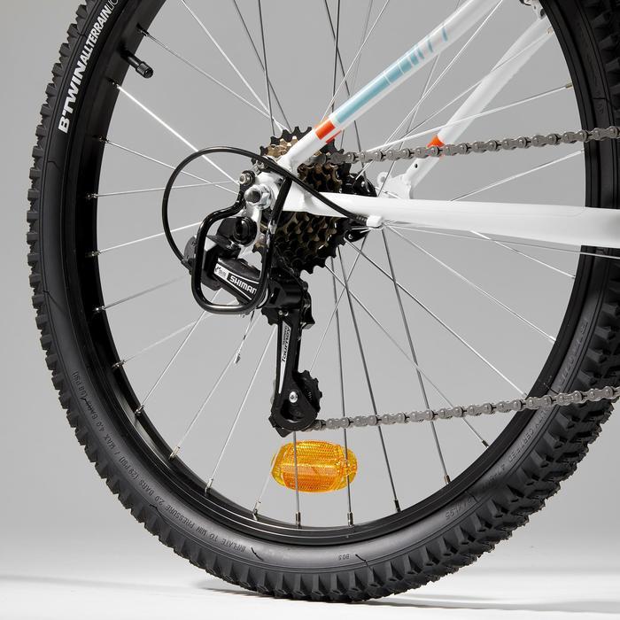 Protège dérailleur noir pour vélo 24 pouces ROCKRIDER ST 100 et 500
