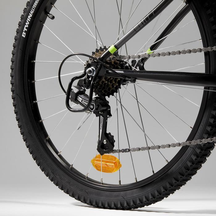 Mountainbike kind 24 inch ROCKRIDER ST 500 9 -12 jaar Zwart