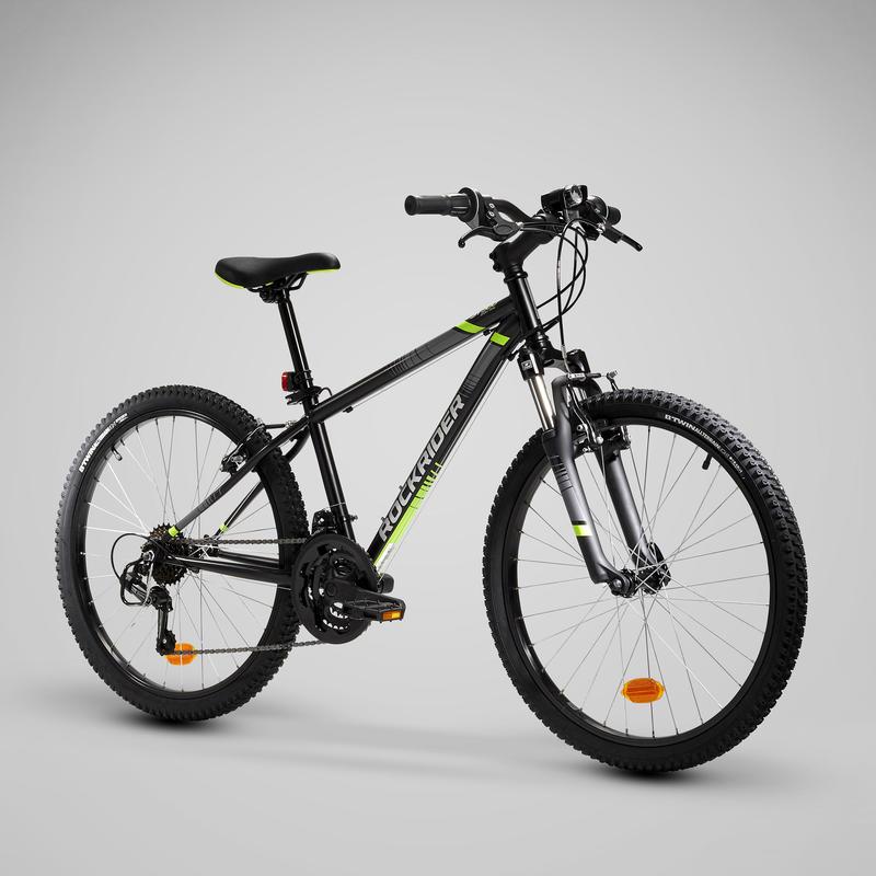 Çocuk Dağ Bisikleti - 18 Vites - 24 Jant - Siyah - ROCKRIDER ST500