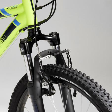 Rockrider ST 500 Kids' 24-Inch Mountain Bike 9-12 Years - Neon Yellow