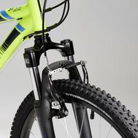 Vélo de montagne rockrider ST500 24 pouces 9-12 ans jaune fluo - Enfants