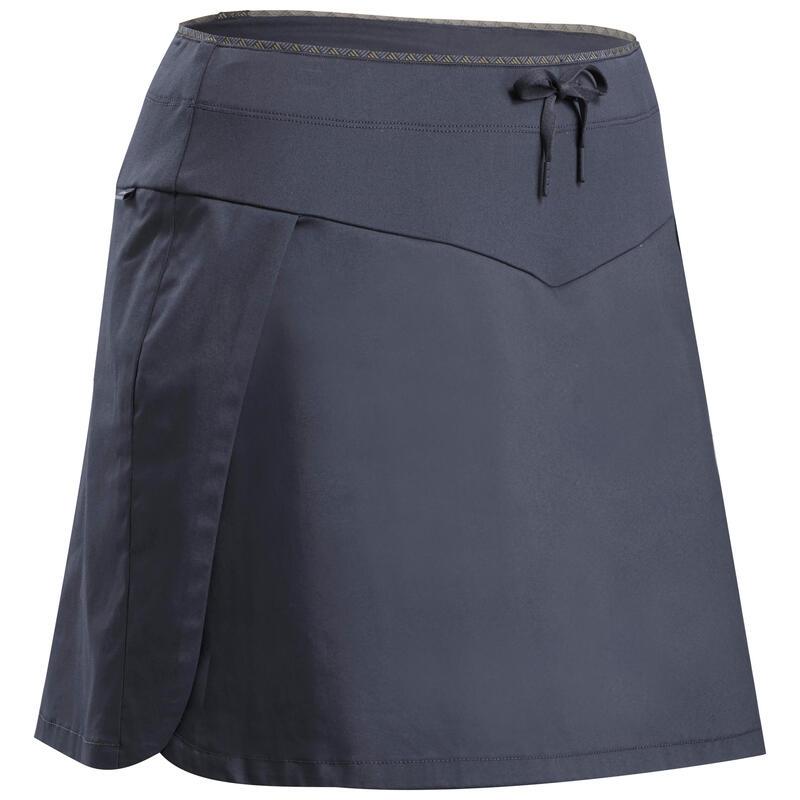 Dámská turistická sukně s kraťasy NH 100 Fresh šedá