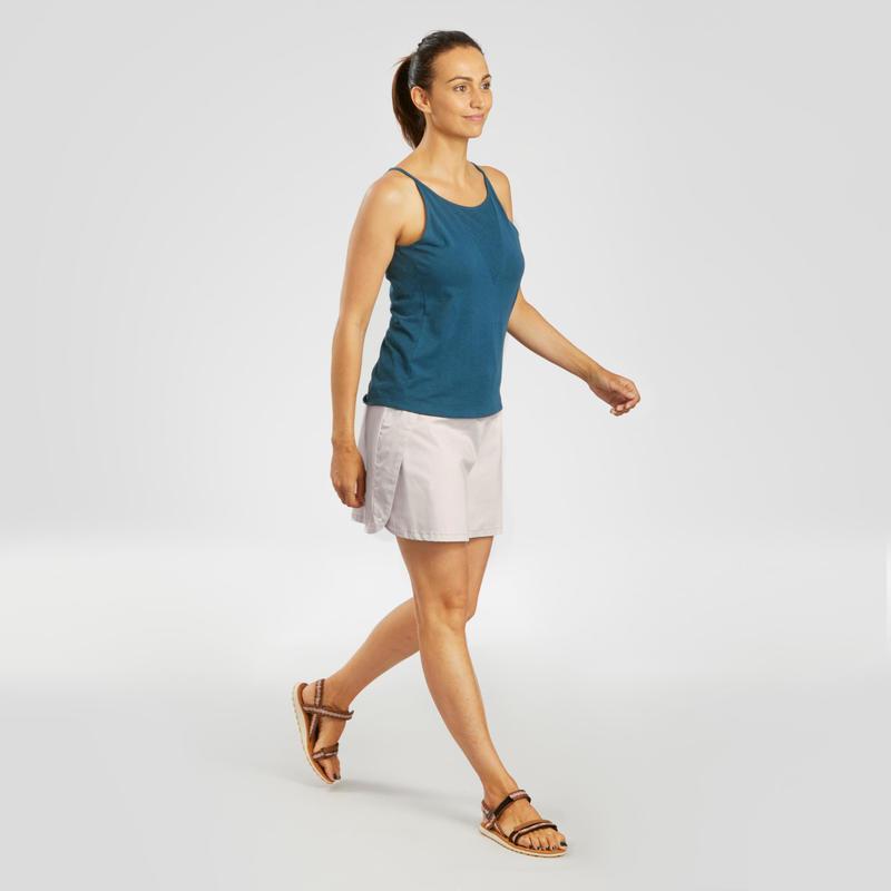 Falda-short senderismo naturaleza NH100 Fresh Mujer