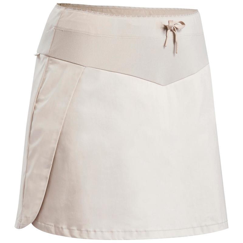 Dámská turistická sukně s kraťasy NH 100 Fresh béžová