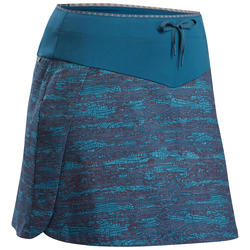 Women's Hiking Skort NH100 - Petrol Blue