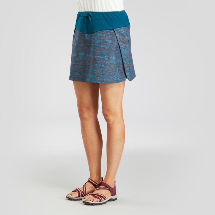 女款越野健行短褲裙NH100 Fresh