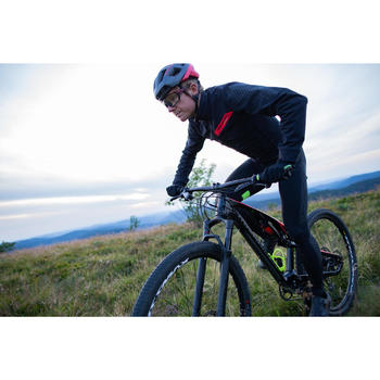 Mountainbikejas XC slim fit zwart/rood